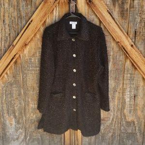 Lady Noiz Black Long Duster Tunic Jacket XL